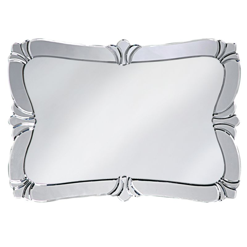 "Howard Elliott 11009 Messina 31"" x 21"" Fleur de Lis Mirror Silver Home"