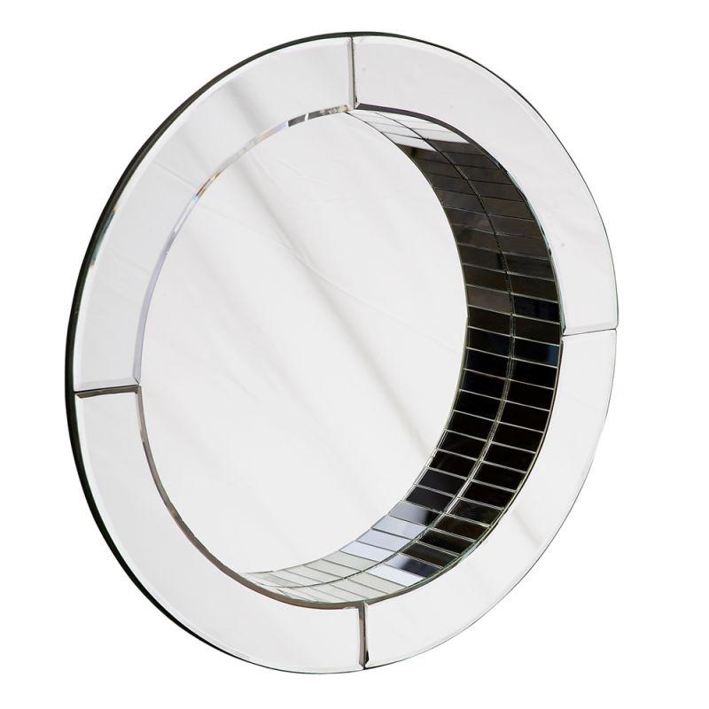 "Howard Elliott 11049 Angela 22"" x 22"" Modern Round Mirror Clear Home"