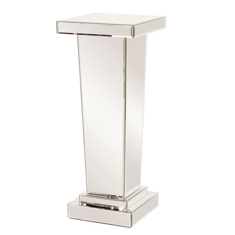 "Howard Elliott Carina Tapered Mirrored Pedestal 36"" Tall Mirrored"