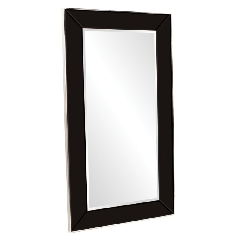 "Howard Elliott 11136 Devon 71"" x 40"" Oversized Black Mirror Black Home"