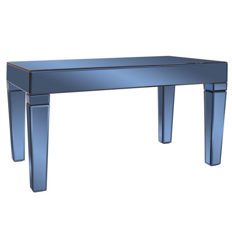 "Howard Elliott Dorset Cobalt Blue Mirrored Coffee Table 36"" Wide"