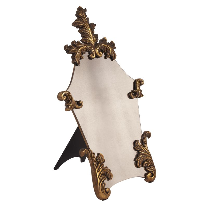 "Howard Elliott 11195 Table Mirror 33"" x 20"" Casanova Gold Home Decor"