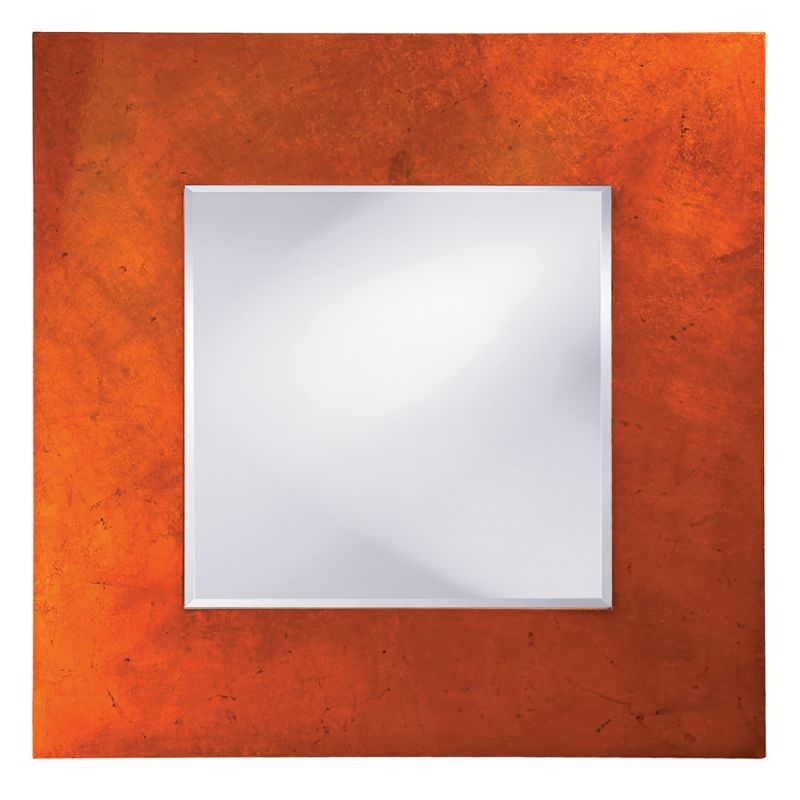 "Howard Elliott 14205 Kayla 46"" x 46"" Orange Mirror Orange Home Decor"