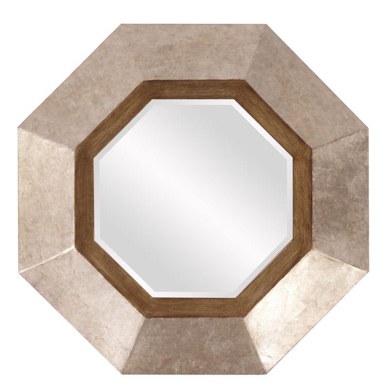 """Howard Elliott Octavio Octagonal Mirror 30"""" x 30"""" Octagonal Mirror"""