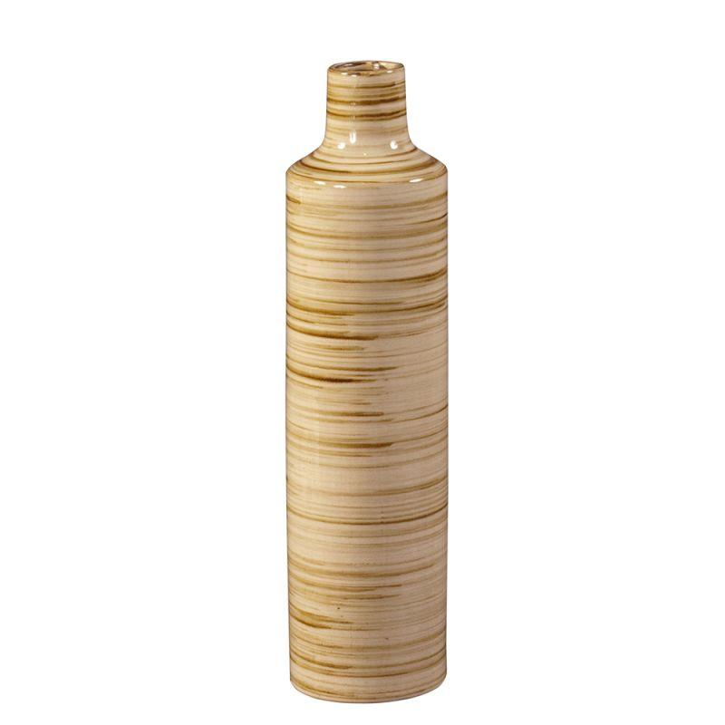 "Howard Elliott Medium Beige Glazed Ceramic Vase 24"" Tall Ceramic Vase"