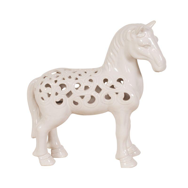 "Howard Elliott Glossy Ceramic Horse 11"" Tall Ceramic Horse Glossy"