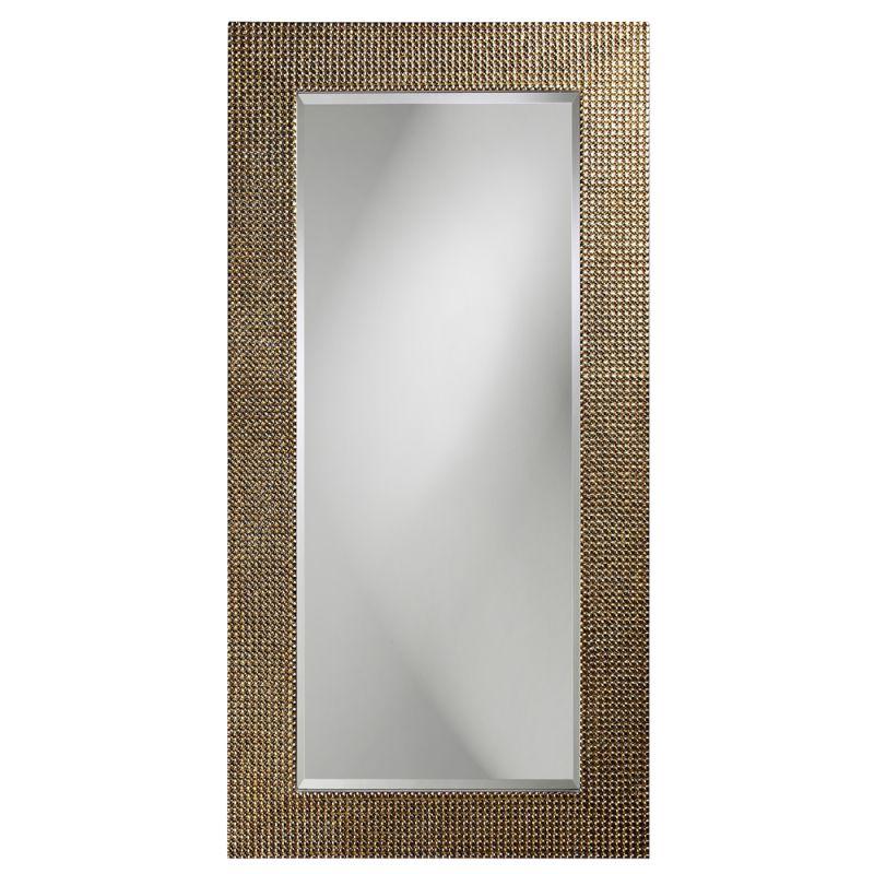 """Howard Elliott 2142 Lancelot 60"""" x 30"""" Tall Silver Leaf Mirror Silver"""