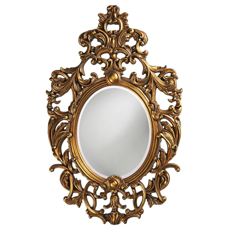 "Howard Elliott 2146 Dorsiere 51"" x 31"" Gold Mirror Gold Home Decor"