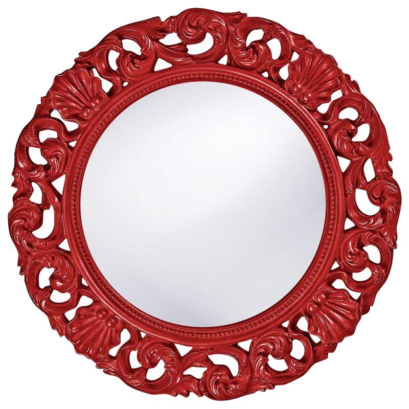"""Howard Elliott 2170R Glendale 26"""" x 26"""" Red Mirror Red Home Decor"""