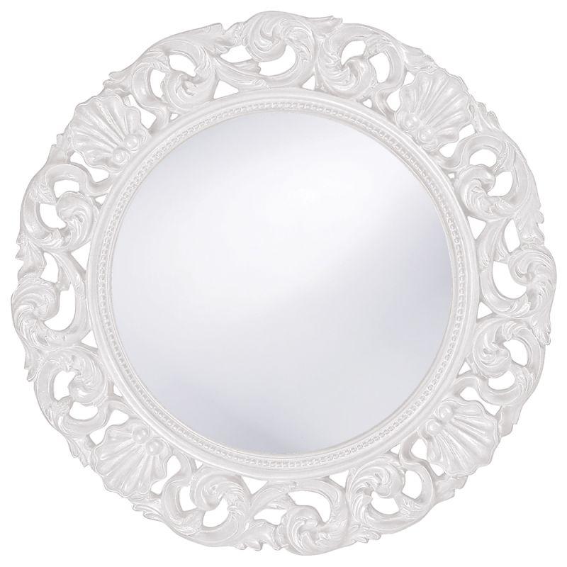 """Howard Elliott 2170W Glendale 26"""" x 26"""" White Mirror White Home Decor"""