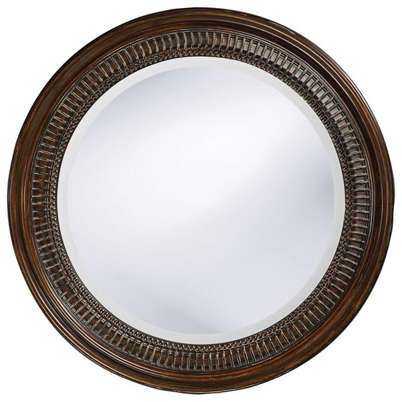 """Howard Elliott 2172 Monmouth 2"""" x 26"""" Round Mirror Bronze Home Decor"""