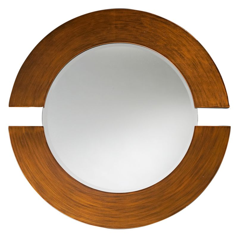 "Howard Elliott 2174 Orbit 38"" x 38"" Burnished Copper Mirror Burnished"