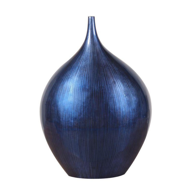 """Howard Elliott Small Cobalt Blue Wood Vase 17"""" Tall Wood Small Vase"""