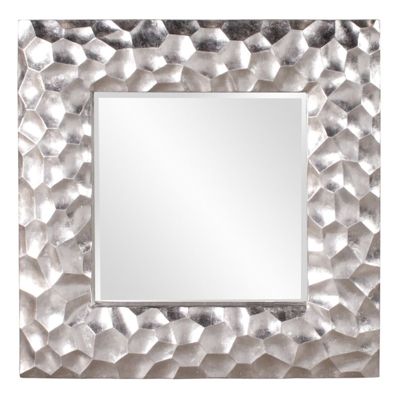 "Howard Elliott 25092 Marley 39"" x 39"" Silver Mirror Silver Home Decor"