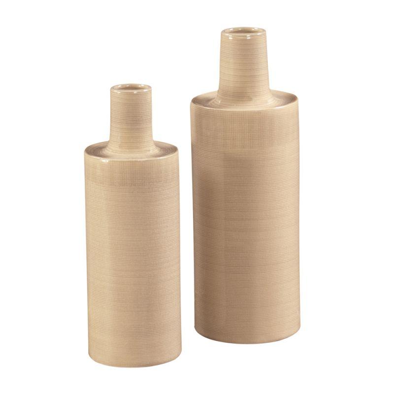 Howard Elliott Cream Glaze Ceramic Vases (Set of 2) Set of 2 Ceramic