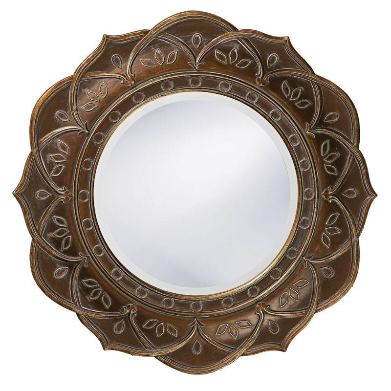 "Howard Elliott 37013 Erica 22"" x 22"" Round Mirror Copper Home Decor"