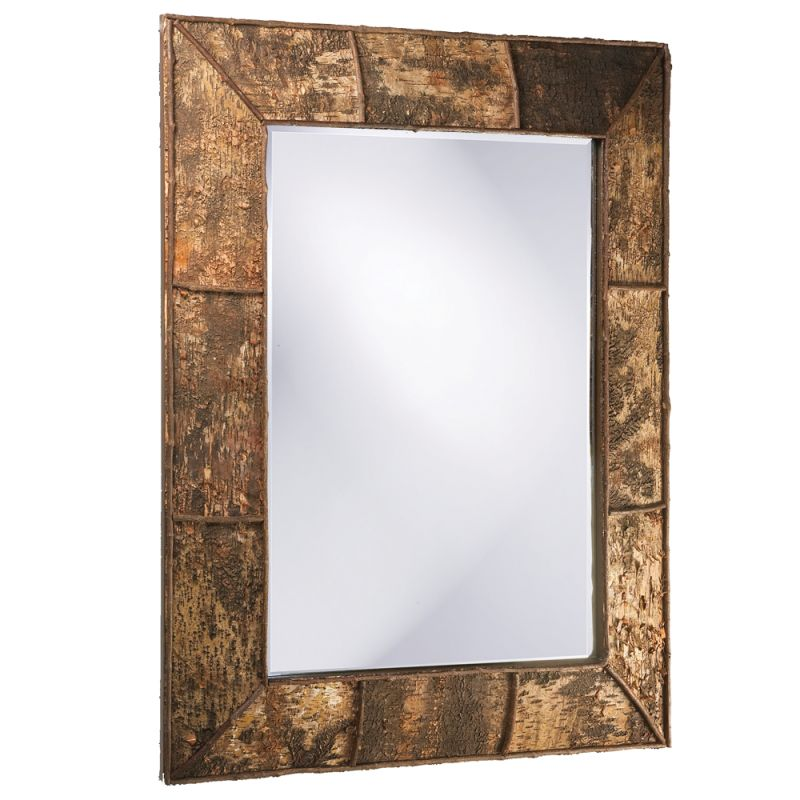 "Howard Elliott 37023 Aggawak 54"" x 44"" Wood Mirror Brown Home Decor"