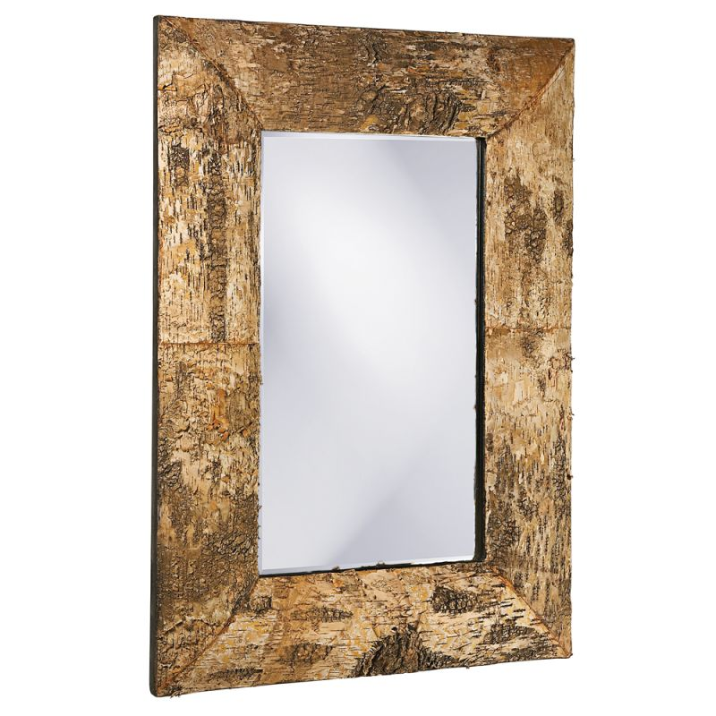 "Howard Elliott 37031 Kawaga 36"" x 26"" Birch Bark Mirror Birch Bark"
