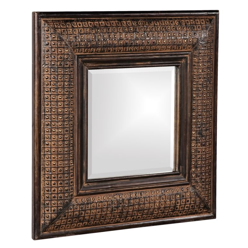 "Howard Elliott 37046 Grant 23"" x 23"" Antique Brown Square Mirror"