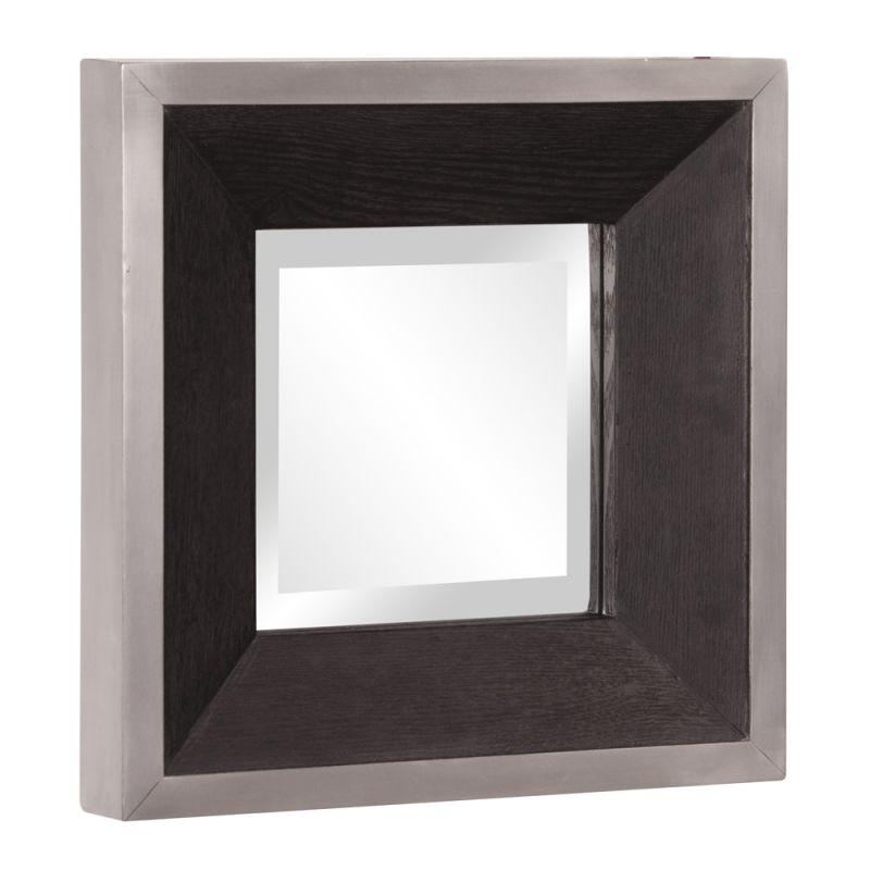 "Howard Elliott 37124 Jackson 14"" x 14"" Square Wood Mirror Walnut Home"