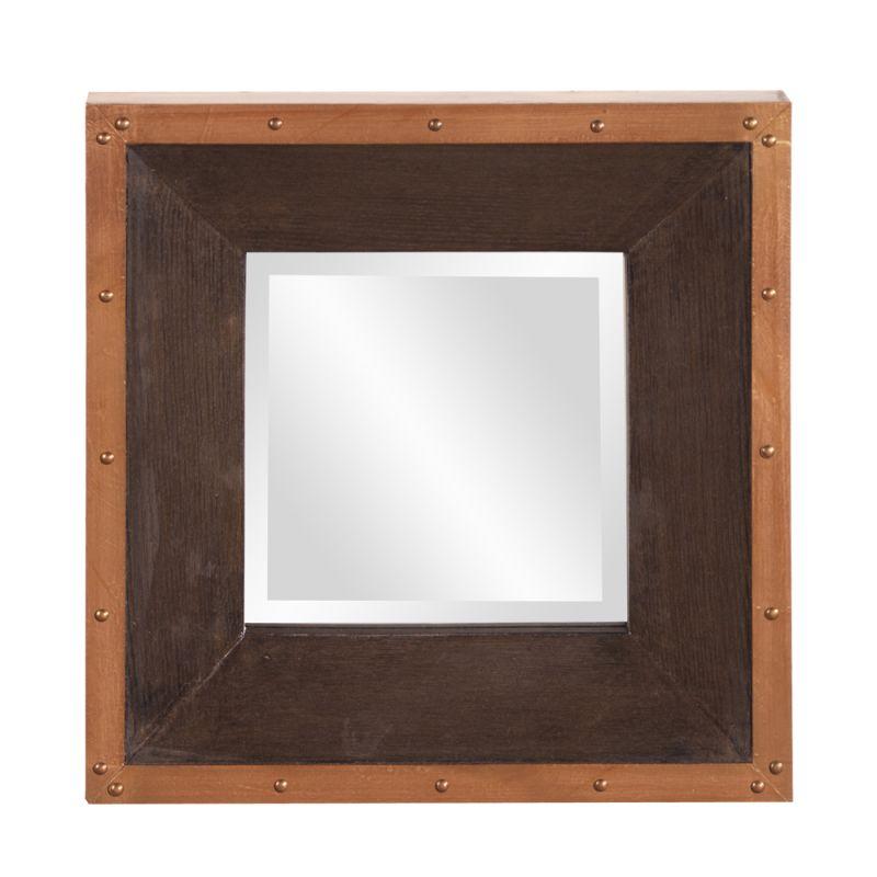 "Howard Elliott Blaze Square Mirror 14"" x 14"" Square Mirror from the"