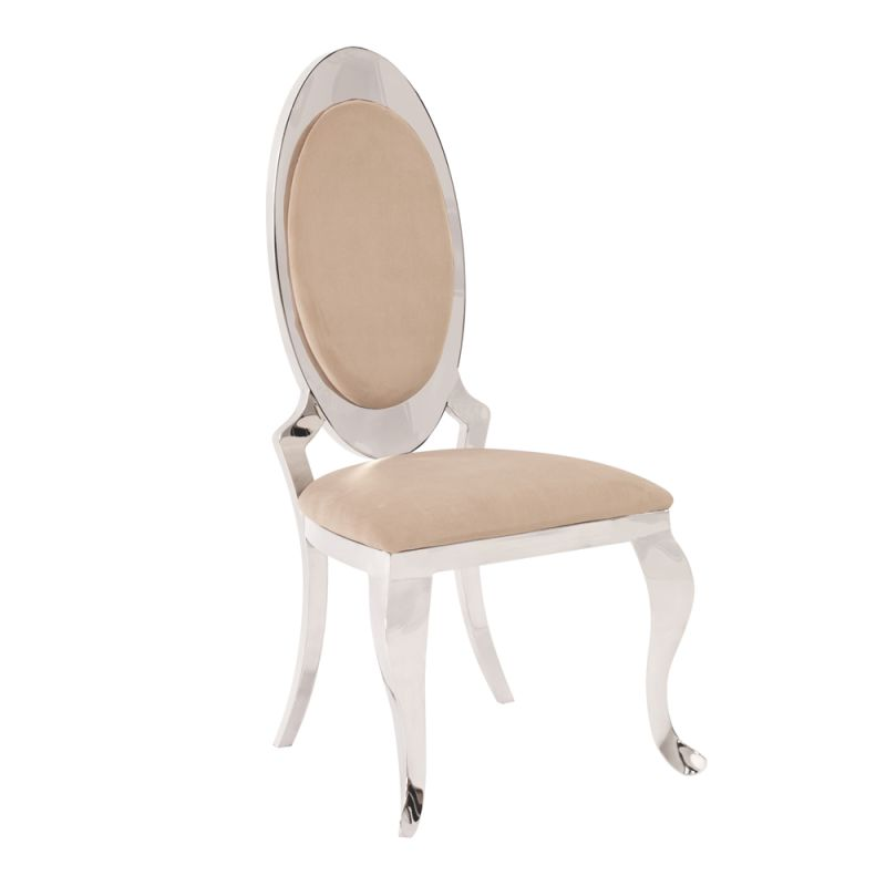 "Howard Elliott Stainless Steel Accent Chair 44"" Tall Stainless Steel"