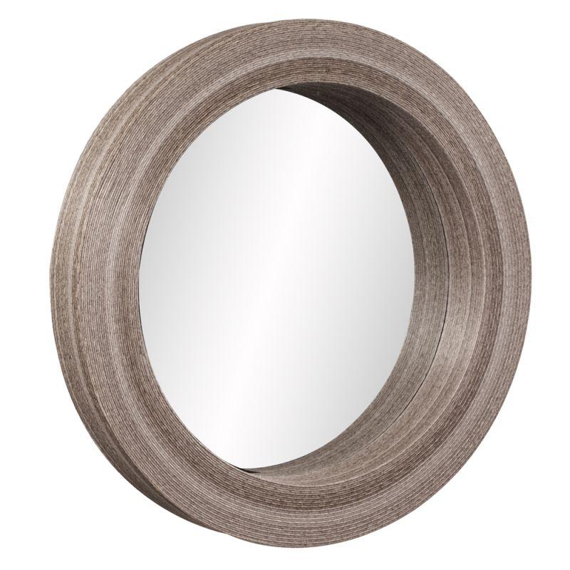 """Howard Elliott 39010 Pier 40"""" x 40"""" Round Mirror Brown Home Decor"""