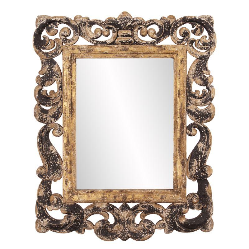 """Howard Elliott 39013 Isaac 35"""" x 28"""" Rustic Wood Mirror Brown Home"""