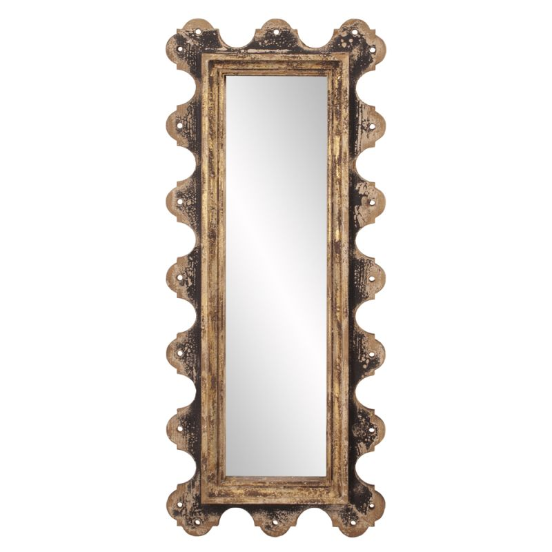 "Howard Elliott 39014 Blaine 48"" x 20"" Aged Wood Mirror Brown Home Sale $210.00 ITEM: bci2704757 ID#:39014 UPC: 848635056074 :"