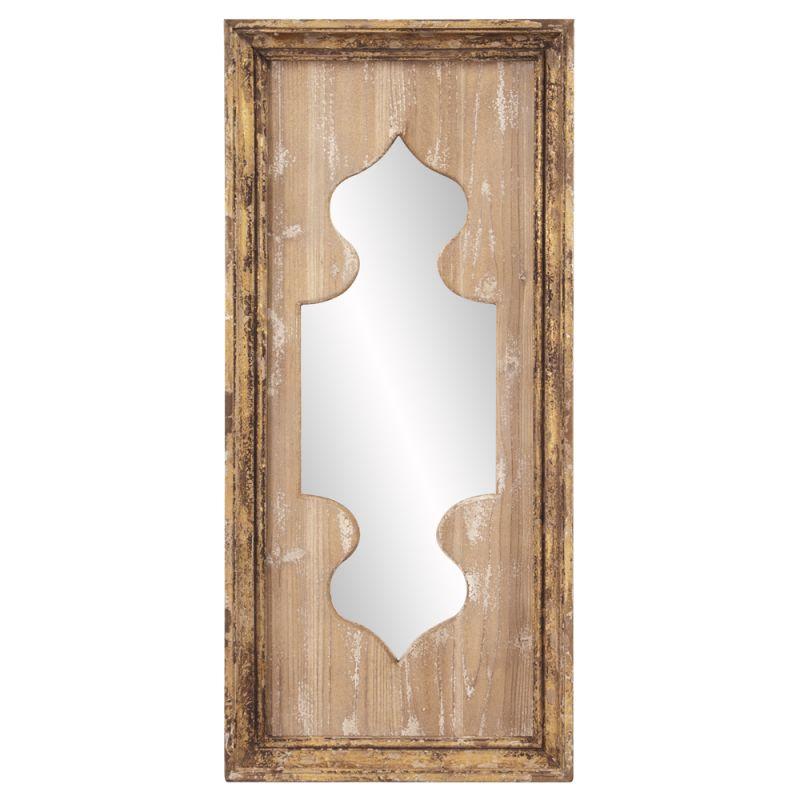 "Howard Elliott 39016 Aladdin 35"" x 16"" Wood Mirror Brown Home Decor"