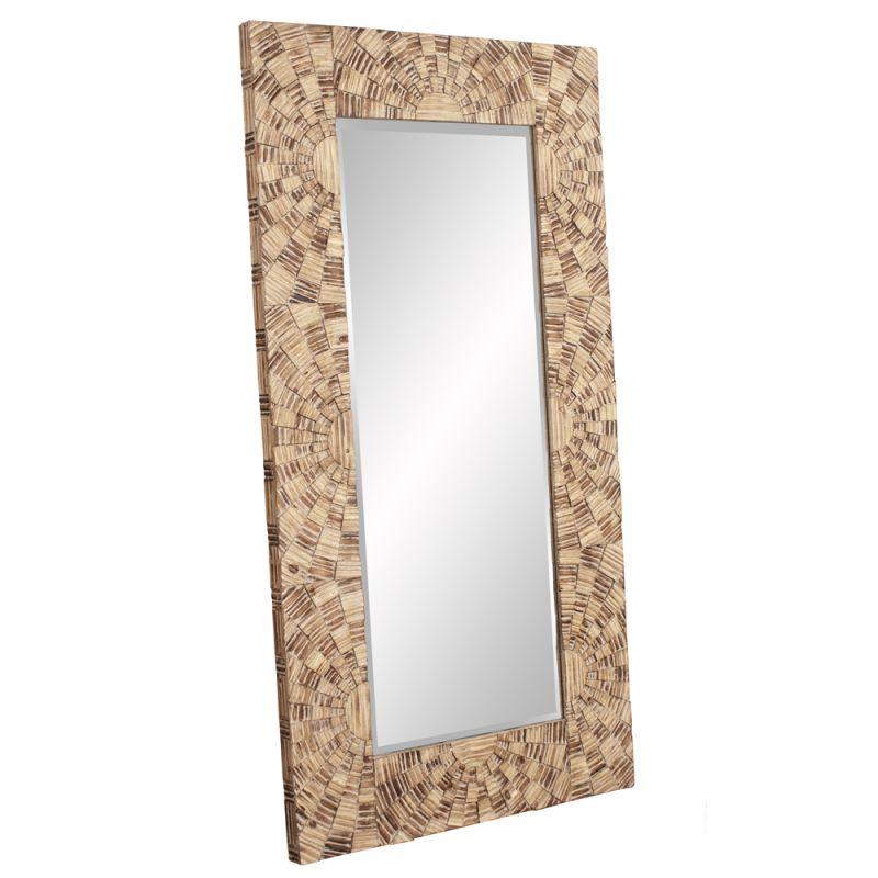 "Howard Elliott 39025 Abram 77"" x 40"" Oversized Mosaic Wood Mirror Gold"