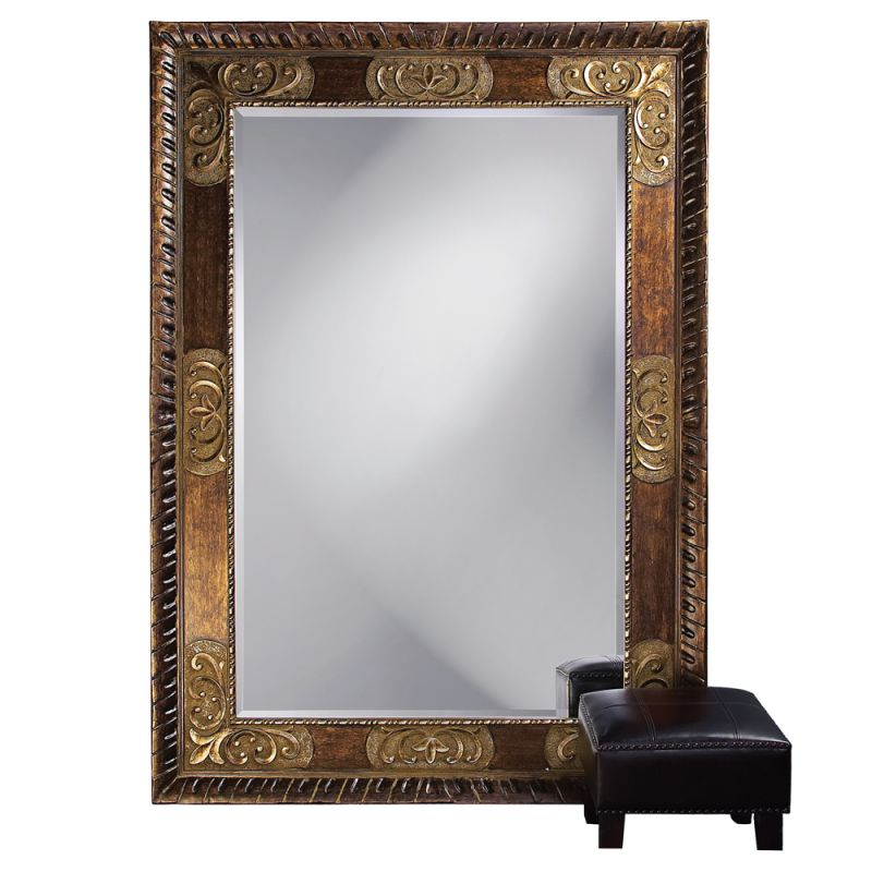 """Howard Elliott 43002 Tate 84"""" x 60"""" Oversized Leaner Mirror Bronze"""