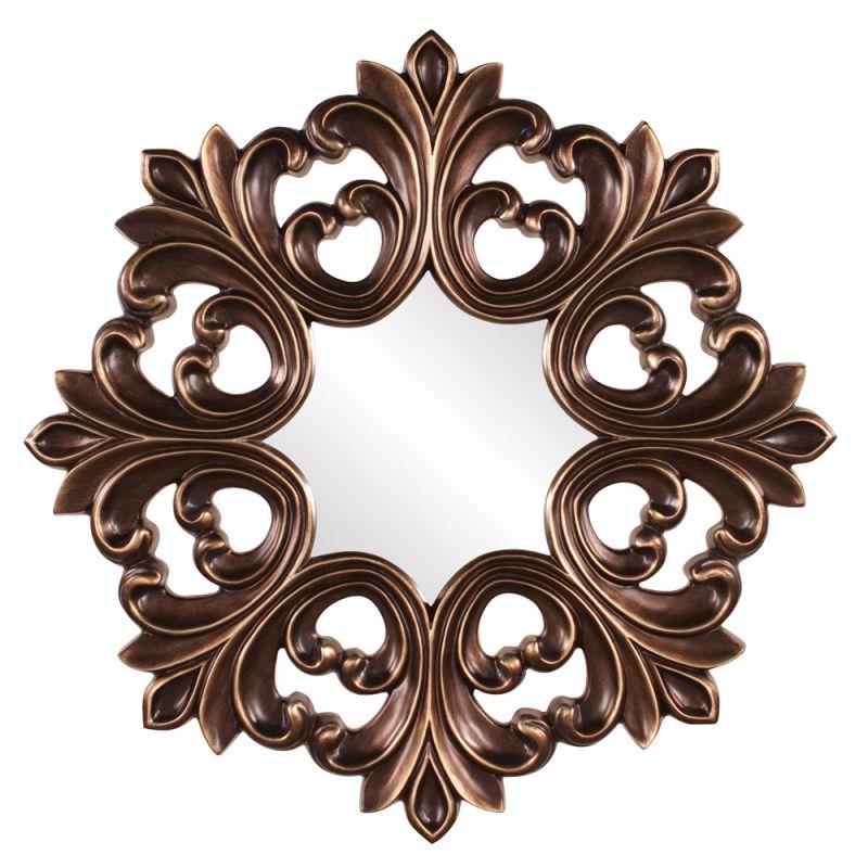 """Howard Elliott 43105 Annabelle 35"""" x 35"""" Baroque Mirror Bronze Home"""