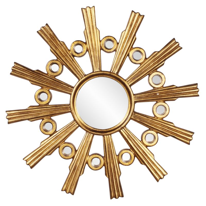 "Howard Elliott Calypso Gold Starburst Mirror 41"" Diameter Circular"