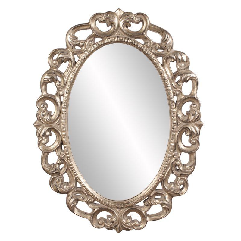"Howard Elliott 43131 Ansel 46"" x 34"" Oval Mirror Silver Home Decor"