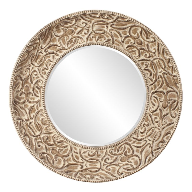 "Howard Elliott 43133 Larson 49"" x 49"" Whitewashed Mirror Bronze Home"