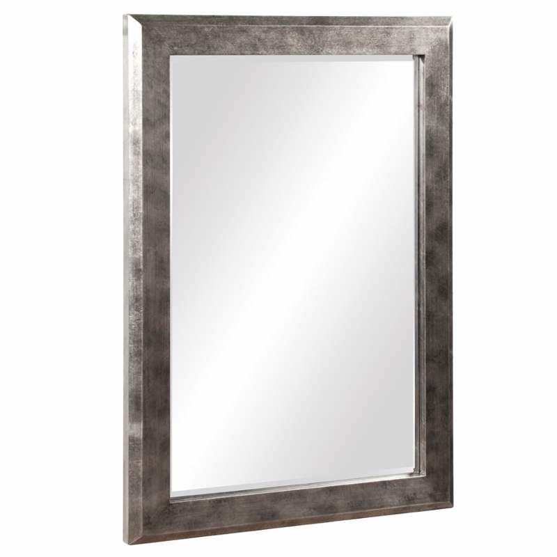 """Howard Elliott 51271 Charlize 42"""" x 30"""" Silver Leaf Mirror Pewter Home"""