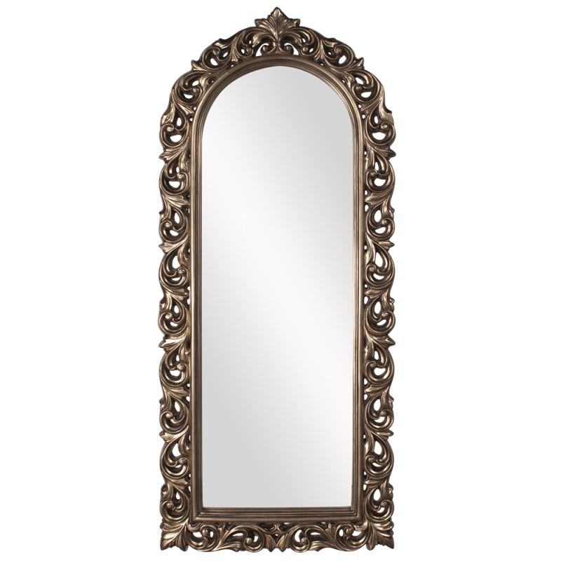 "Howard Elliott Orleans Pewter Arched Mirror 72"" x 30"" Arched Mirror"