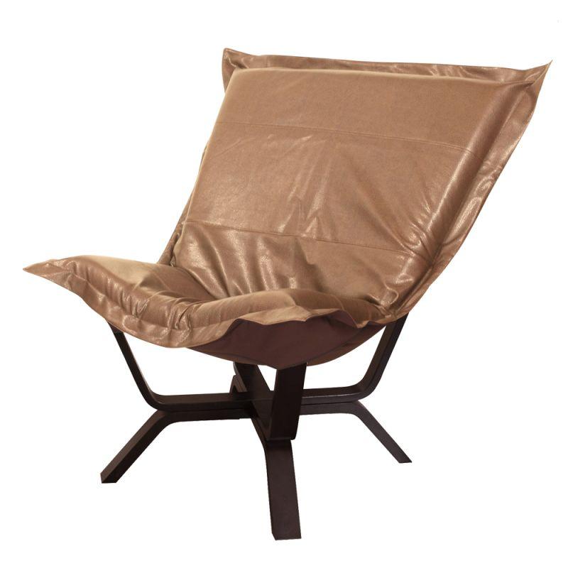 "Howard Elliott Avanti Milan Puff Chair 40"" Tall Polyurethane"
