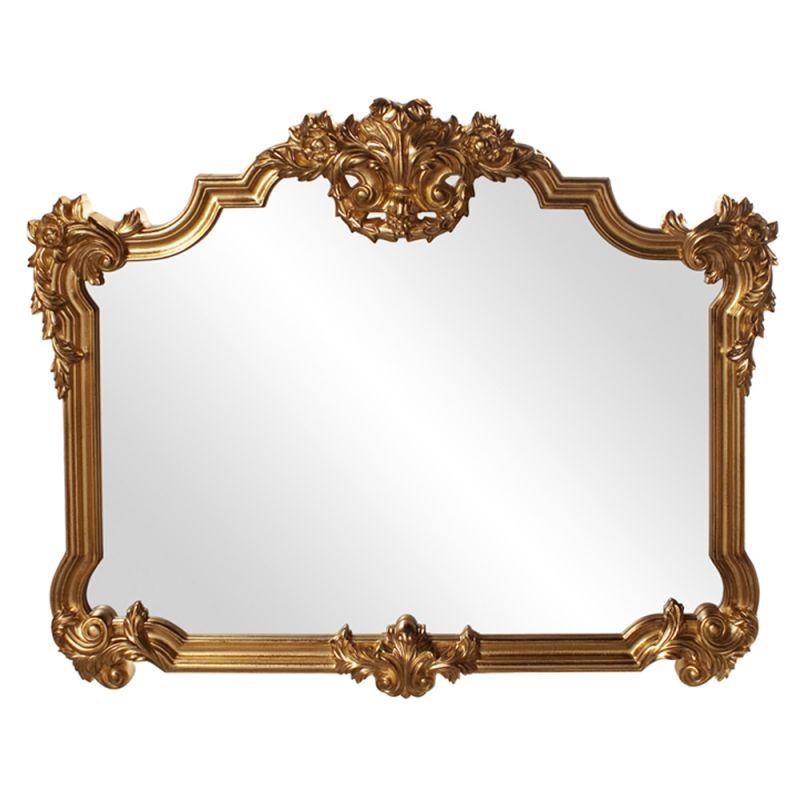 "Howard Elliott 56006 Avondale 48"" x 39"" Bright Gold Mirror Glossy"