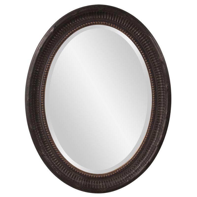 "Howard Elliott 56104 Nero 34"" x 26"" Black Oval Mirror Black Home Decor"