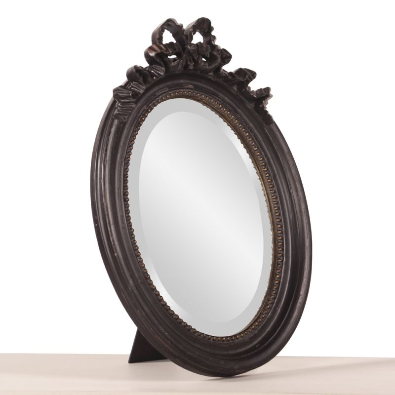 "Howard Elliott 56111 Ivanhoe 24"" x 18"" Small Tabletop Mirror Black"