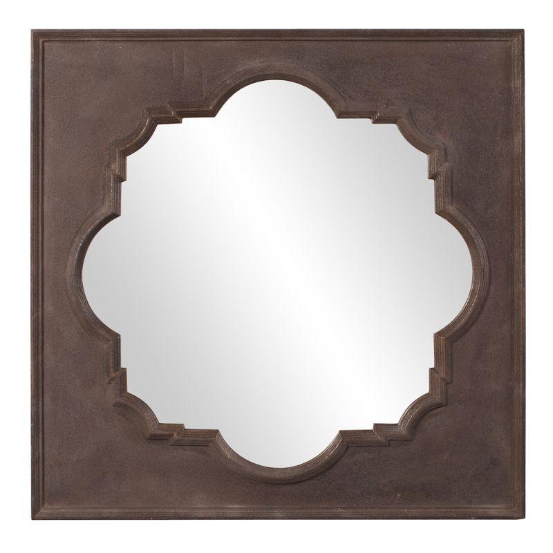 "Howard Elliott 56117 Raja 38"" x 38"" Square Mirror Brown Home Decor"