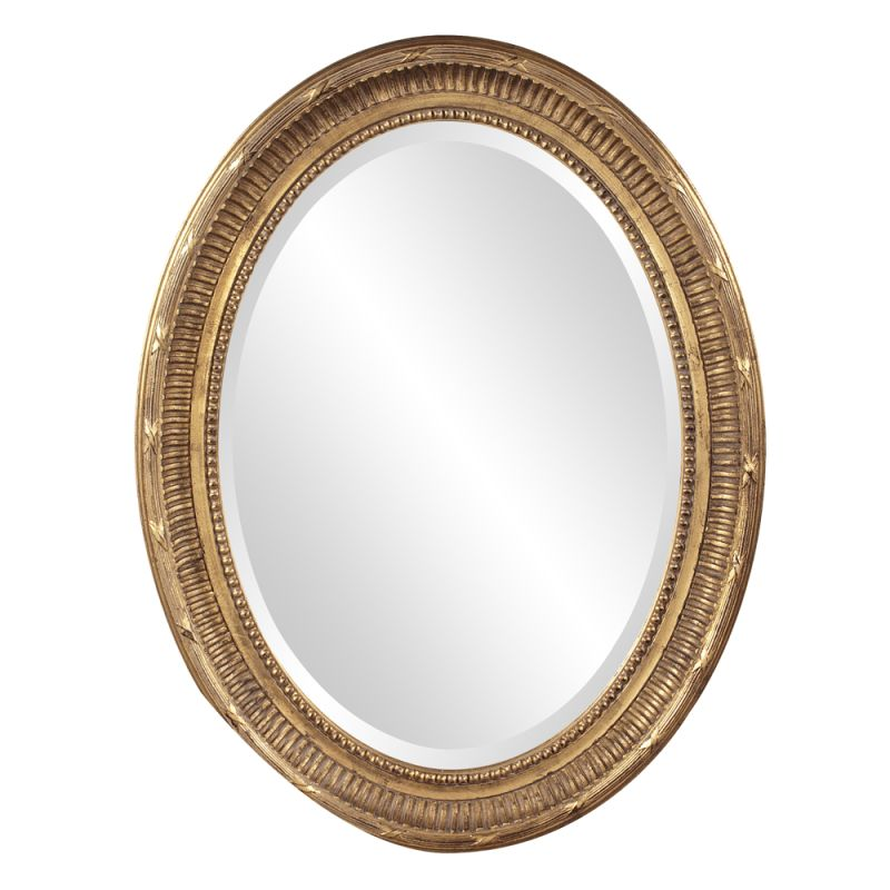 "Howard Elliott 56120 Nero 34"" x 26"" Gold Oval Mirror Gold Home Decor"