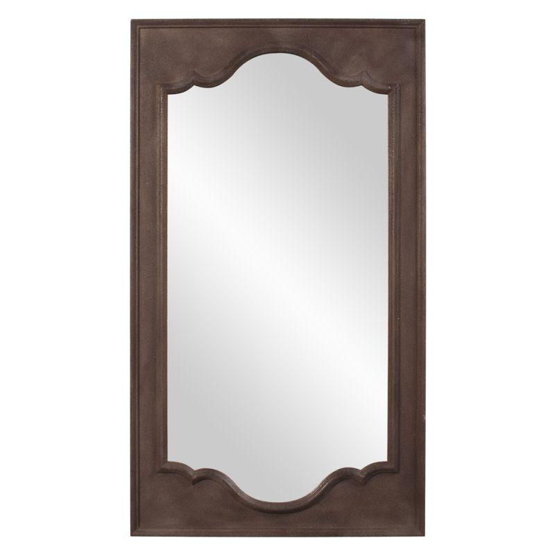 "Howard Elliott 56128 Raja 55"" x 32"" Rectangular Mirror Brown Home"