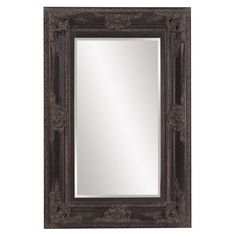 "Howard Elliott 57002 Victoria 60"" x 40"" Antique Black Mirror Black"