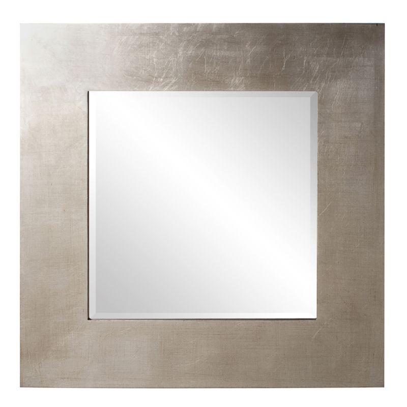 "Howard Elliott 60201 Sonic 32"" x 32"" Silver Square Mirror Silver Home"