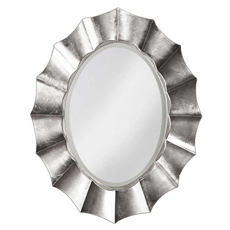 "Howard Elliott Corona Oval Mirror 40"" x 32"" Oval Mirror from the"