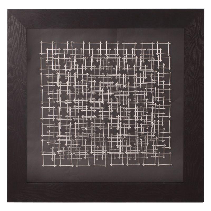 Howard Elliott 64028 Wall Art Abstract Silver Nail II Silver and Black