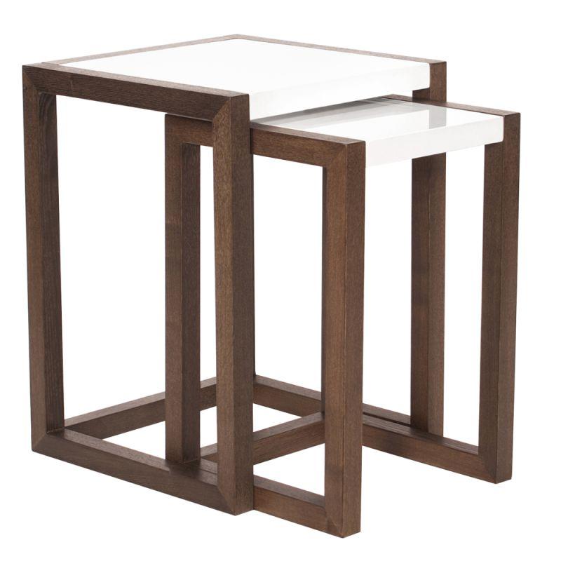 Howard Elliott Java Brown Wood Nesting Tables (Set of 2) Java Brown